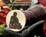 Buddha wax seal design