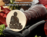 Buddha wax seal design