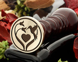 BIRDS - Hummingbird, Flower & Heart Design Wax Seal