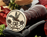 Hummingbird double flower wax seal