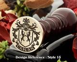 Caplan Family Crest Wax Seal D15