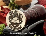 Connell Family Crest Wax Seal D7
