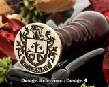 Coleman family crest wax seal D4