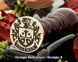 Coleman family crest wax seal D4