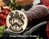 Austin Family Crest Wax Seal D7