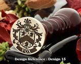 Fox Family Crest Wax Seal D15
