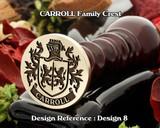 Carroll Family Crest Wax Seal D8