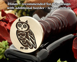 Steampunk Owl D1 wax seal