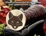 Fox Head D2 Wax Seal Stamp