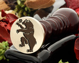 Wild Bear with Rose wax seal