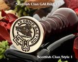 Galbraith Scottish Clan Wax Seal D1 also for Cufflinks and Signet Rings