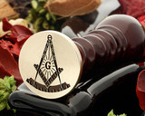 Masonic Square and Compass wax seal D9 from 30mm