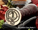 Balfour Scottish Clan Wax Seal D1