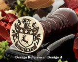 Doherty Family Crest Wax Seal D4