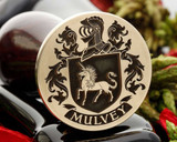 Mulvey Wax Seal Stamp - Design as shown 30mm or larger