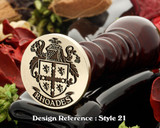 Rhoades Family Crest Wax Seal D21