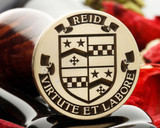 Reid family crest wax seal - photo reversed for viewing