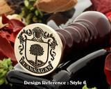 Flannagan family crest wax seal D6