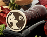 Cats Yin Yang Wax Seal