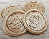 Rose Peel and Stick wax seal stickers - Pale Gold Pearl