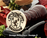 O'Keeffe Family crest wax seal