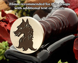 Heraldry Fox Wax Seal Stamp D1