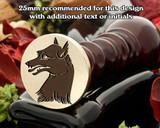 Heraldry Fox Wax Seal Stamp D3