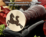 Heraldry Fox Courant Reguadant Wax Seal Stamp
