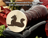 Heraldry Fox Couchant Wax Seal Stamp