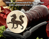 Heraldry Fox Passant Wax Seal Stamp