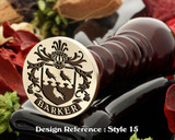Barker Family Crest Wax Seal D15