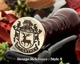 McCartney Family crest wax seal D9