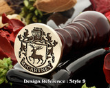 McCartney Family crest wax seal D9