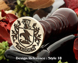 Madden Family crest wax seal D18