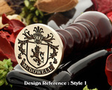 McDowell family crest wax seal D1