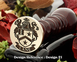 Lane Family Crest (England) Wax Seal D21