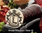 Donovan Family Crest Wax Seal D15