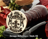 Digby Family Crest Wax Seal D23