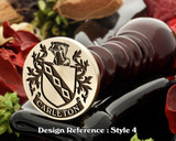Carleton Family Crest Wax Seal D4