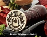 Chapman Family Crest Wax Seal D4