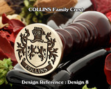 Collins Family Crest Wax Seal D8