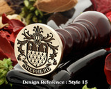 Shepherd Family Crest Wax Seal D15