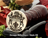 Gamble Family Crest Wax Seal D23