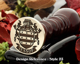 Jessop Family Crest Wax Seal D23