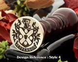 Jefferson Family Crest Wax Seal D4