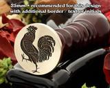 Cock (Rampant) Wax Seal Stamp