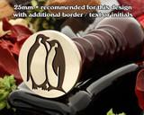 Love Penguins Wax Seal