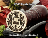 Irwin Family Crest Wax Seal D4