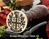 Jones Family Crest Wax Seal D18