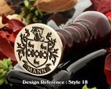 Mann Family Crest Wax Seal D18